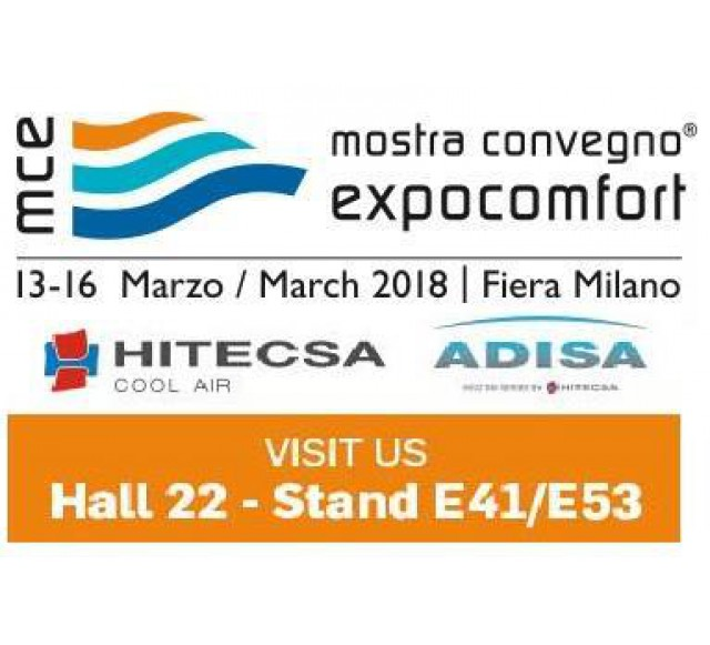 Hitecsa - Come and visit us at MOSTRA CONVEGNO EXPOCOMFORT 2018