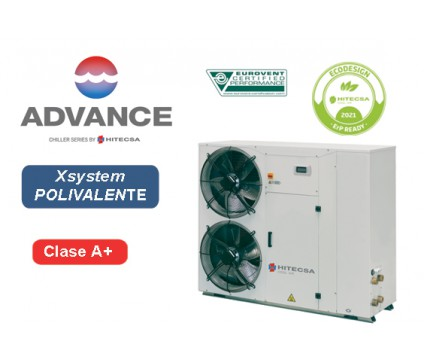 EQP1X | AIR-WATER POLYVALENT SYSTEM | 4 TUBES | AXIAL | SCROLL